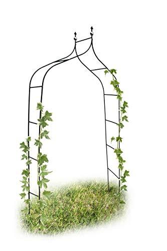Relaxdays Arco da Giardino Decorazioni per Il Giardino Arco Piante Rampicanti, Metallo, 2.4 mt, Verde Scuro