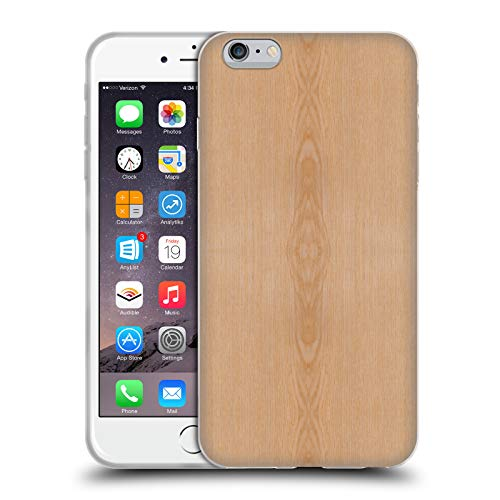 Head Case Designs Offizielle PLdesign Helles Braunes Korn Holz Und Rost Drucke Soft Gel Huelle kompatibel mit iPhone 6 Plus/iPhone 6s Plus (Aus Holz-korn 6 Iphone Case)