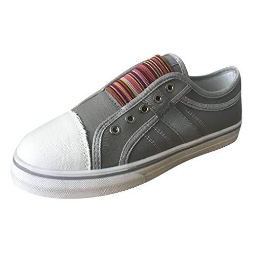 Bluestercool Scarpe da Donna Rotondo Punta Casual Sneakers Elastico Outdoor Estive Casual Mocassini Zeppa