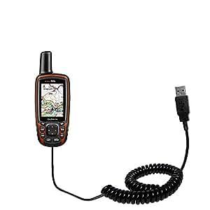 Un Câble USB Spiralé HotSync Pour le Garmin GPSMAP 64 / 64s / 64st Avec à la Fois la Possibilité de Charger Votre Appareil et de Transférer des Données