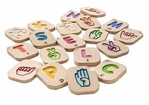 Plan Toys - 5672 - Alfabeto A-Z Lenguaje de Signos Plan Toys 24m+