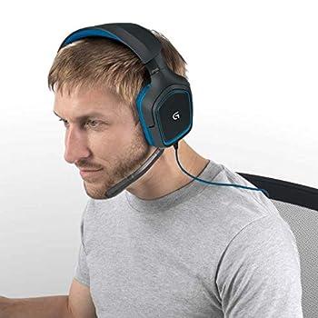 Logitech G430 Cuffie da Gioco con 7.1 Dolby Surround Sound,  Nero/Blu