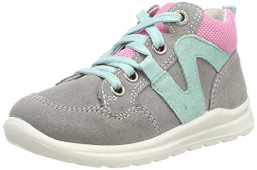 Superfit Baby Mädchen Mel Sneaker, Grau (Grau/Rosa 25), 24 EU