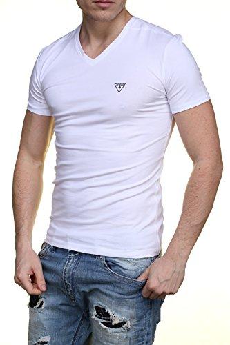 Guess Herren T-Shirt Weiß