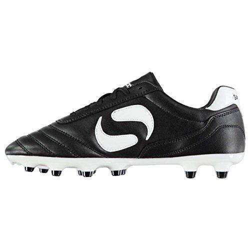 Sondico Kids Strike FG Childs Football Boots Firm Ground Lace Up Studs Black White UK C13  32