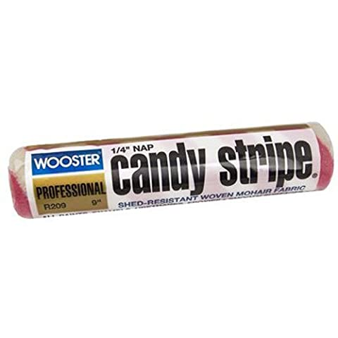 Wooster Brush R209-9 Candy Stripe Roller Cover 1/4-Inch Nap, 9-Inch by Wooster Brush