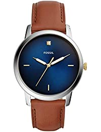 Fossil The Minimalist 3h Analog Blue Dial Men's Watch-FS5499