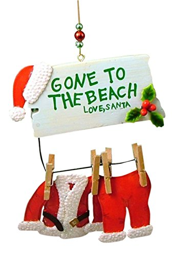 us Gone to The Beach Christmas Ornament ()