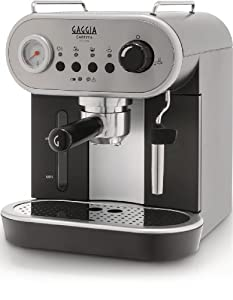 Gaggia RI8525/08 Carezza Manual Espresso Coffee Machine - grey