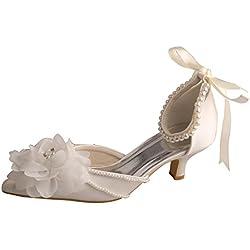 Wedopus Elegant, Damen Knöchel-Riemchen , Beige - elfenbeinfarben - Größe: 35.5