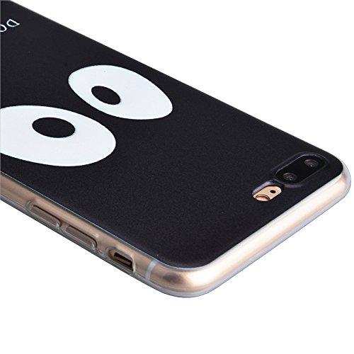 iPhone 7 Coque, Yokata Ultra Mince Prints Motif Cover avec Silicone Gel Bumper Transparente Housse Case + 1*Stylet - Don't Touch Me Don't Touch Me