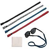 Hifot Brillenband Brillenbänder 4 Stück mit Brillenputztuch, einstellbar Brillenband Sport Sonnenbrillen Band Brillen Kordel