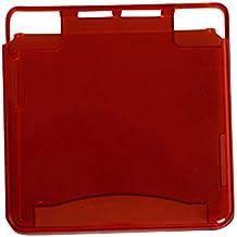 eJiasu Alto y Bajo la tapa cubierta de plástico transparente duro claro para Nintendo Game Boy Advance SP / SP consola GBA (1pc Rojo Transparente)