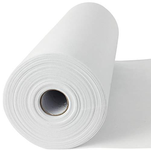 50 lfm Madeira Stickvlies, Reißvlies in weiß, 50 g/m², 30 cm breit, Cotton Soft, mittelschwere Stoffe, ohne Kleber - Stickvlies! -