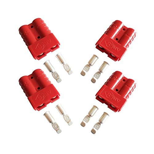 Connettore per batteria, 50 A, connessione rapida, presa di connettore 50 A, 600 V, per auto, furgone, moto, 4 pezz