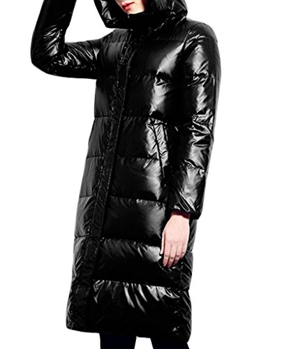 XIAOLV88 Damen Mantel Schwarz - Schwarz