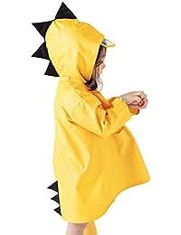 Dehots Regenmantel Regenjacke Kinder Regenponcho Regencape Unisex mit Kapuze Wasserdicht für Jungen Mädchen Dinosaurier