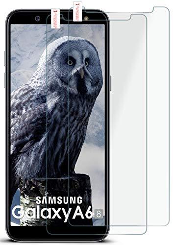 moex 2X 9H Panzerfolie für Samsung Galaxy A6 (2018) | Panzerglas Display Glasfolie [Tempered Glass] Screen Protector Glas Displayschutz-Folie für Samsung Galaxy A6 (2018) Schutzfolie Premium Screen Protector
