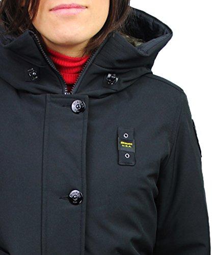 Parka donna Blauer 16WBLGK03478 impermeabile trench lungo nero invernale piuma d'oca neve taglia XS - 14 (XS)
