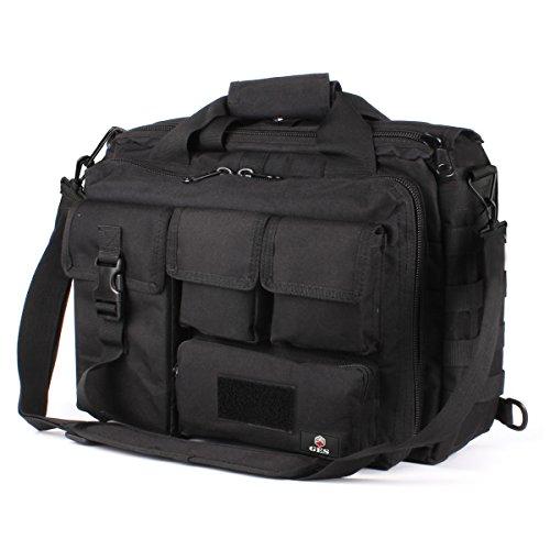 Nylon-aktentasche (GES Multifunktions Herren Outdoor Tactical Schulter Laptoptasche Militär Nylon Metall Schnalle Laptop Messenger Aktentasche Handtaschen für 17,3