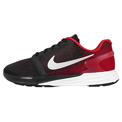 Nike Lunarglide 7 (Gs), Chaussures de Running Compétition Garçon Noir / Argenté / Blanc (Black / Mtllc Silver-Anthrct-Wht)