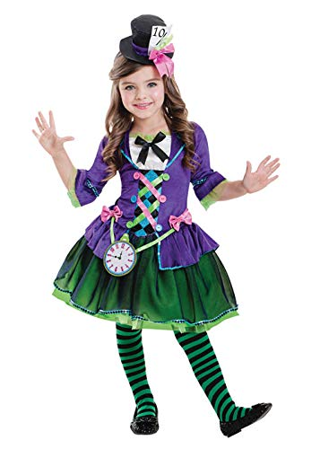 Dark Mad Hatter Girl Kostüm XL (11-12 Years) ()