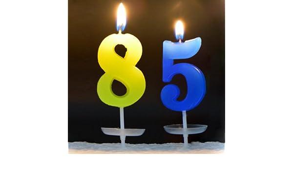 85th Birthday Candles Birthday Party Holiday Decroration Cake
