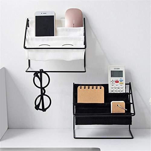 bloatboy Schmiedeeisen Regal Tischplatte Briefpapier Speicher Regal, Sonnenbrille Lagerregal Kosmetika Regal Multifunktionsregal Haushaltsregal (Weiß)