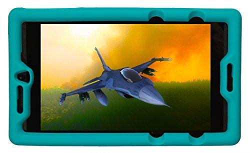 BobjGear Bobj Etui en Silicone Robuste pour Tablette NVIDIA Shield K1 Housse de Protection (Turquoise)
