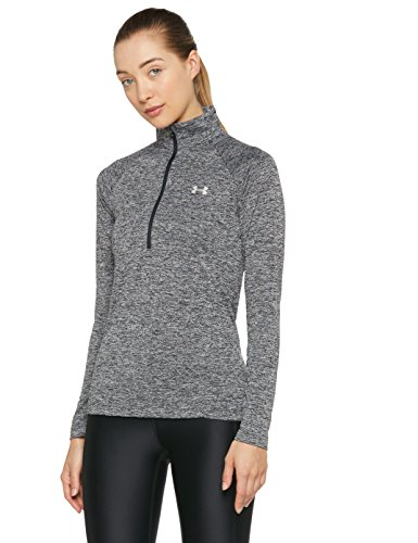 Under Armour Damen New Tech 1/2 Zip-Twist Oberteil, Schwarz, L