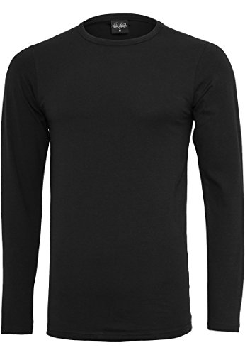 TB816 Fitted Stretch L/S Tee Langarmshirt Black