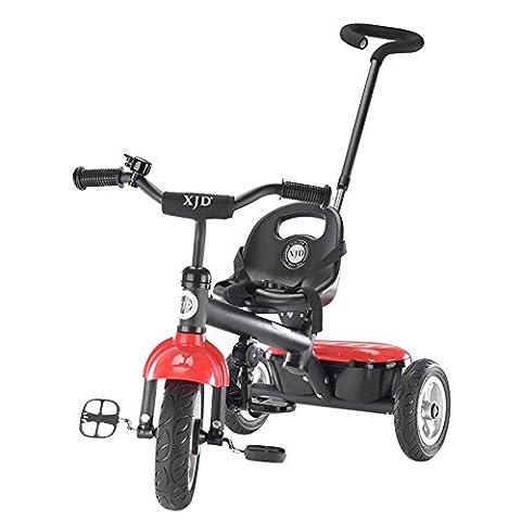 Titan roue vide, trois tours de vélo, chariot bébé, pliant peut prendre un mini vélo portable ( Couleur : Rouge )