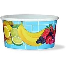 200 tarrinas de helado, tarrina de papel para helado o tarrina para fruta con 160