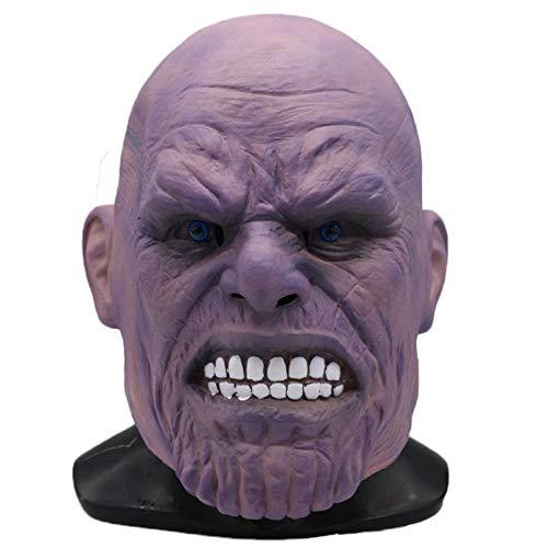 QQWE Masken Marvels The Avengers Thanos Maske Film Cosplay Kostüm Maske Halloween Thema Party Maskerade Kopfbedeckungen,A-OneSize