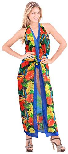 La Leela anthemion beachwear dello swimwear del bikini del costume da bagno sarong involucro pareo femminile coprire Verde