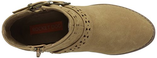 Rocket Dog Mack Rund Kunstleder Mode-Stiefeletten Natural