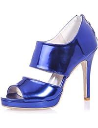 L@YC 5915-26 Sandalias De TacóN alto / Peep Toe Para Mujer Boda / Vida Nocturna Y Vestidos Rose Gold