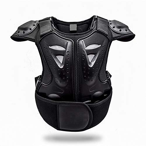 TZTED Schutz Körper Weste Rüstung Kind Rolle Eislaufen Roller Zurück Reflektierend Schutzweste Weste,Black,M -