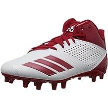 buy popular e11c0 19442 Adidas Hombres 5 Star Bajos   Medios Cordon Zapatos para Béisbol,  Black Power Red