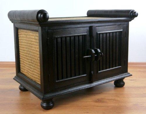 Asiatisches Rattansideboard, TV-Bank HiFi-Sideboard der Marke Asia Wohnstudio, asiatische Phono Möbel, Sitzbank, (klein)