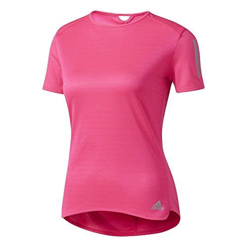 Adidas Running-shirt (adidas Damen Response T-Shirt, Shock Pink, M)
