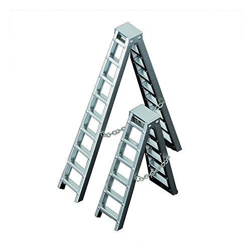Preisvergleich Produktbild Zhuhaixmy 1/10 Scale 100mm Standing Ladder Double Ladder Stehleiter for SCX10 D90 CC01 Wraith RC4WD