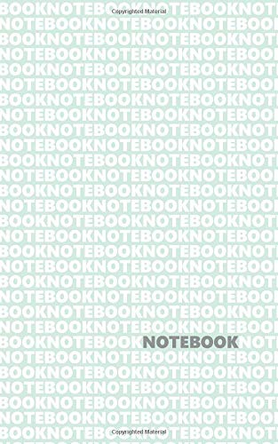 Notebook: (Pastel Green White Edition) Fun notebook 96 ruled/lined pages (5x8 inches / 12.7x20.3cm / Junior Legal Pad / Nearly A5)
