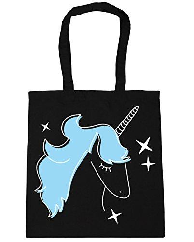 Damen Damen Schwarz Strandtasche Strandtasche Hippowarehouse Hippowarehouse qTw58SF