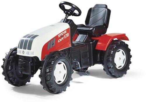*Rolly Toys 035304 Trettraktor Steyr CVT 6240, mit Kettenantrieb, Flüsterlaufreifen, verstellbarem Sitz (für Kinder von 3 – 8 Jahren, TÜV/GS geprüft*