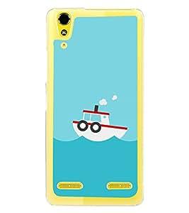 Boat In the Sea 2D Hard Polycarbonate Designer Back Case Cover for Lenovo A6000 :: Lenovo A6000 Plus :: Lenovo A6000+
