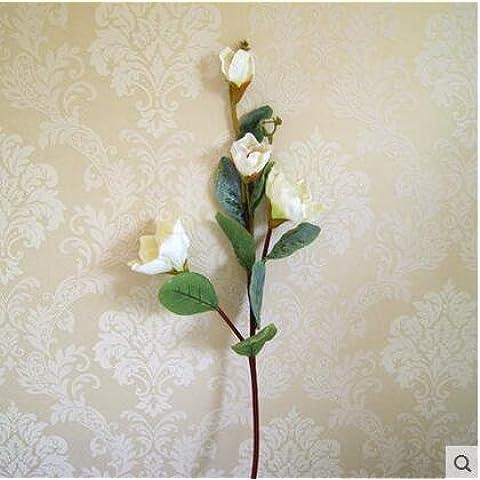 GWZ,Simulación de Ramos de flores de Magnolia de la decoración de flores de seda flores falsas culto templo Buda decorar el equipo de exhibición de la sala de estar , A