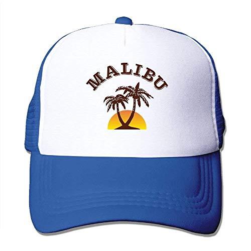 (Wfispiy Malibu-Baum-justierbare Baseballmütze zurückschnappen Netz-Fernlastfahrer-Hut 007506)