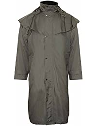 Country Classics Mens 100% Waterproof Riding cape Country Style Full Length Lined Rain Coat Jacket