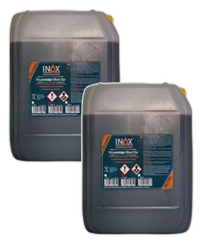 INOX® Wheel Star Felgenreiniger, 2 x 10 Liter - Säurehaltiges Konzentrat entfernt starke Verschmutzungen wie Flugrost und Bremsstaub